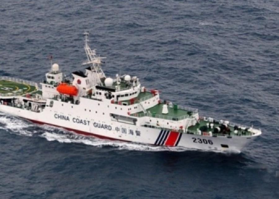 A Chinese coast guard vessel patrolling north of the Natuna islands, undated. (Internet/SPH)