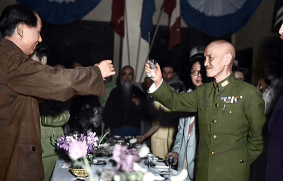 On 10 October 1945, the chairman of the Kuomintang (KMT) government Chiang Kai-shek met with Chinese Communist Party (CCP) chairman Mao Zedong in Chongqing for peace negotiations. Both sides signed an agreement that brought a glimmer of peace, but it was short-lived, as armed conflicts kept breaking out between the KMT and CCP.