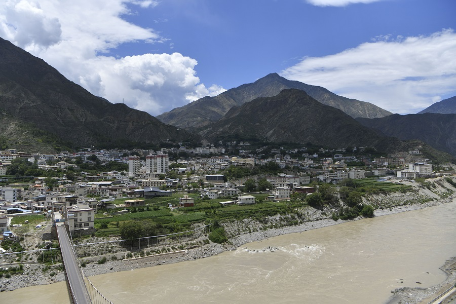 A general view of Benzilanzhen, Yunnan province, China, 22 July 2021. (CNS)