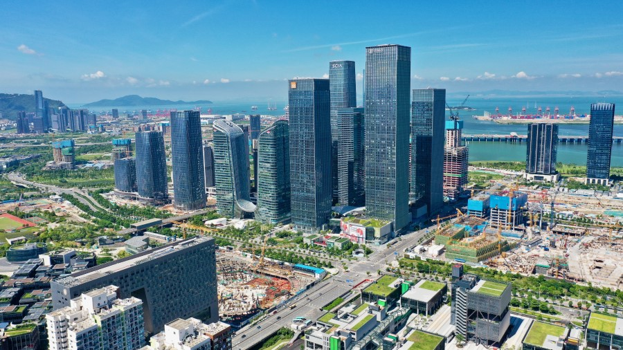This drone shot taken on 21 August 2021 shows a general view of Shenzhen. (CNS)