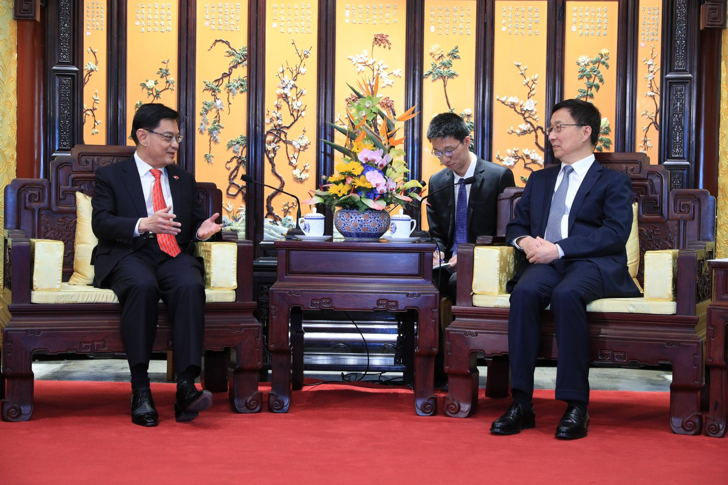 DPM's meeting with PRC Vice-Premier Han Zheng in May 2019, in Beijing, China. (MCI)