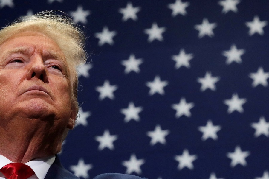 US President Donald Trump reacts during a campaign rally in Charlotte, North Carolina, US, on 2 March 2020. (Carlos Barria/File Photo/Reuters)