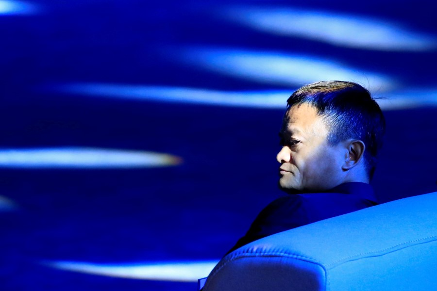 Alibaba Group co-founder and executive chairman Jack Ma attends the World Artificial Intelligence Conference (WAIC) in Shanghai, China, 17 September 2018. (Aly Song/REUTERS)