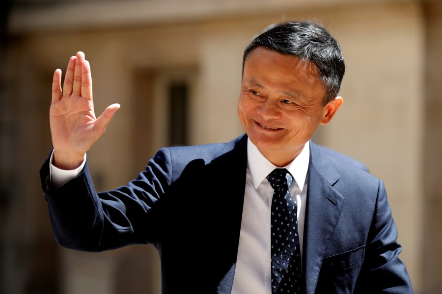 "Jack Ma, billionaire founder of Alibaba Group, arrives at the ""Tech for Good"" Summit in Paris, France, 15 May 2019. (Charles Platiau/Reuters)"
