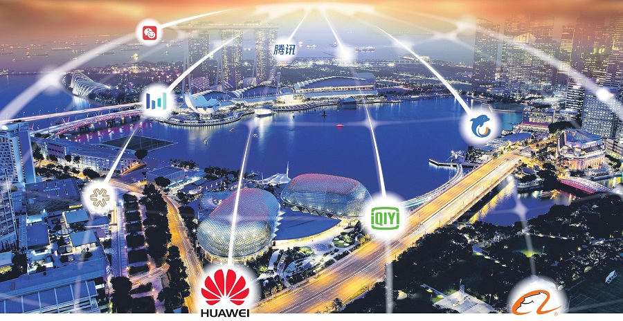 More Chinese tech companies are gaining a presence in Singapore. (Graphic: Ho Han Chong/SPH)