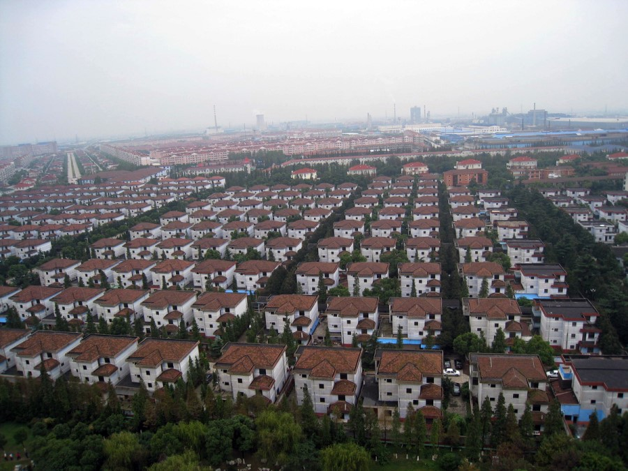 "Villas in Huaxi Village, once known as the ""richest village in China"", 2008. (SPH)"