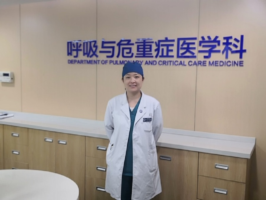 Dr Li Yan, intensive care physician at the Pulmonary and Critical Care Medicine Department of the Xuanwu Hospital affiliated to the Capital Medical University in Beijing.