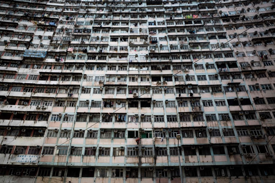 A general view shows residential buildings in Hong Kong on 21 August 2021 (Bertha Wang/AFP)