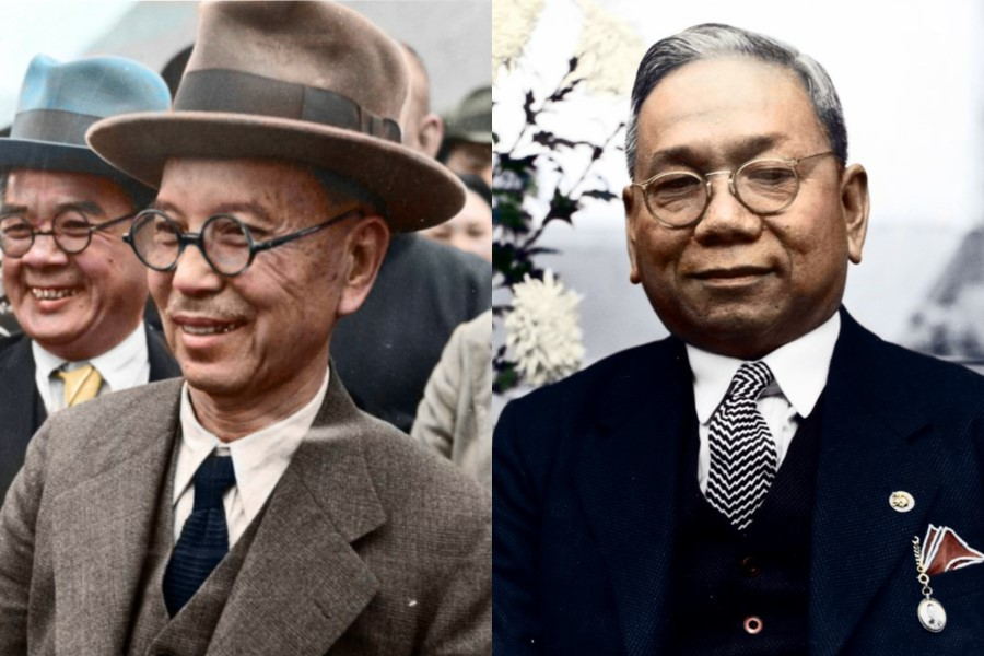 Tan Kah Kee (L) and Aw Boon Haw made major contributions to China's resistance efforts during the Second Sino-Japanese War.