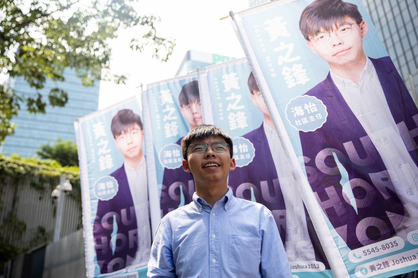 """""""I do not advocate independence for Hong Kong."""" (Kyle Lam / Bloomberg)"""