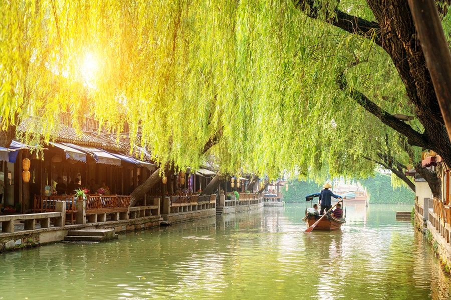 An ancient town in Suzhou, China. (iStock)