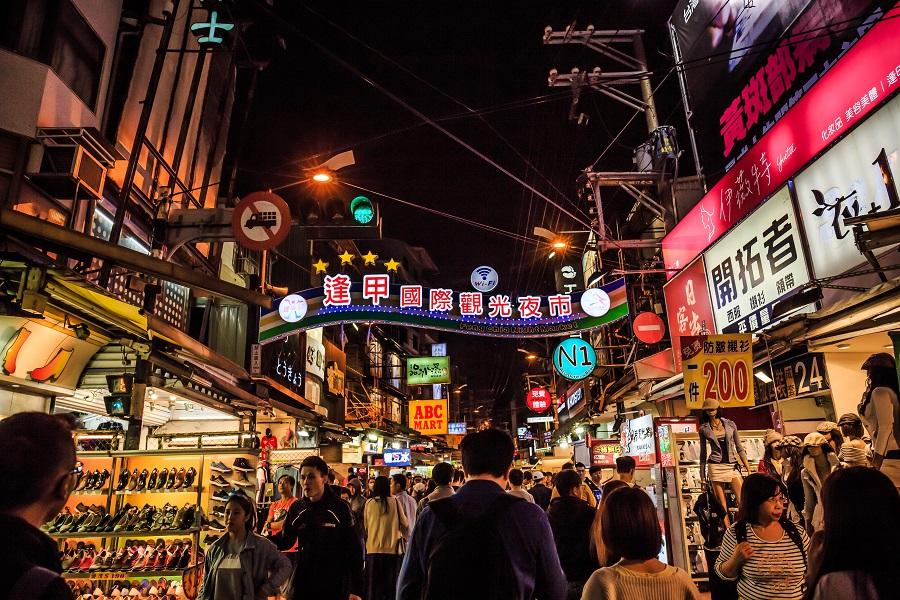 Feng Chia Night Market, Taiwan's biggest and most popular night market. (iStock)
