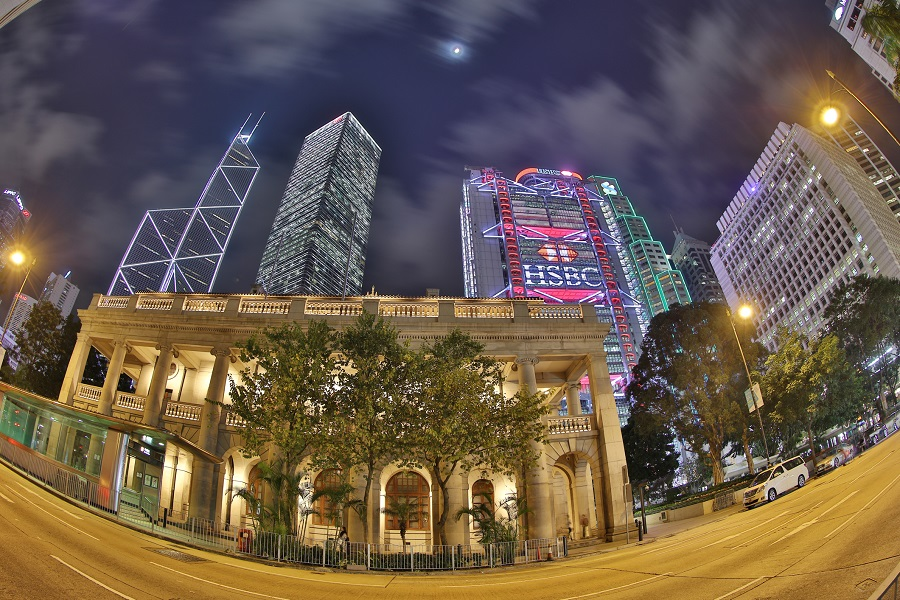 The Hong Kong Legislative Council Building, standing in the shadow of business towers in the CBD. (iStock)