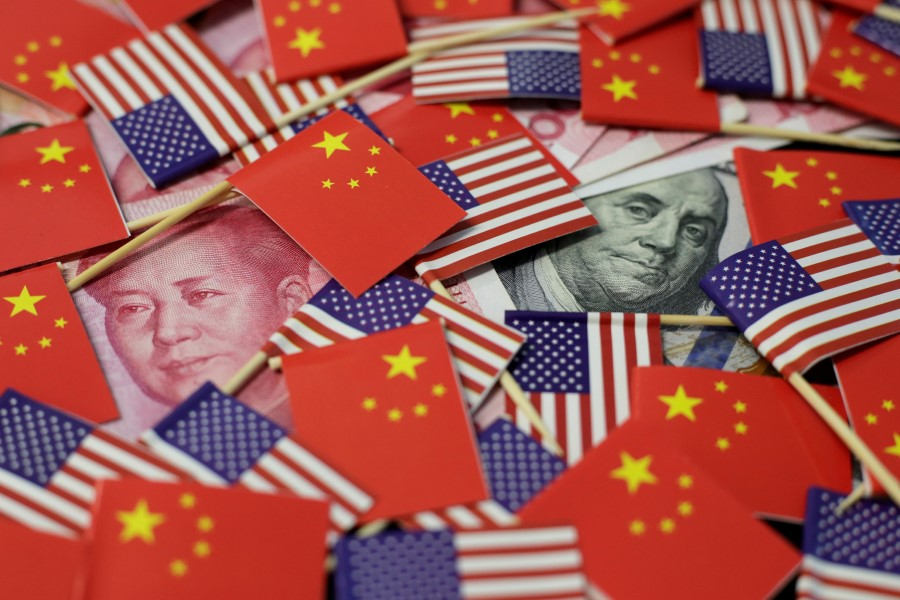 The US and China have been competing on different fronts. (Jason Lee/REUTERS)