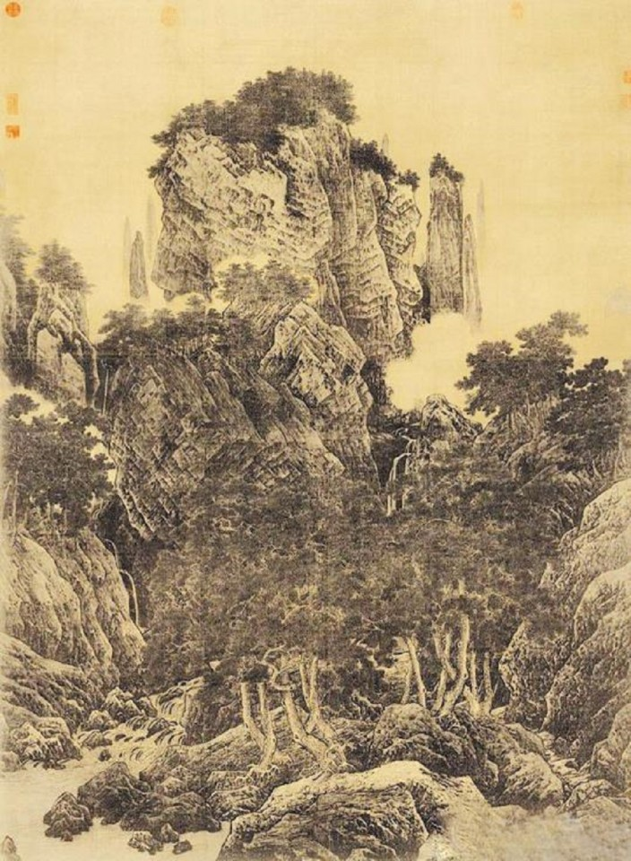 Li Tang, Wind in Pines Among a Myriad of Valleys (《万壑松风图》), National Palace Museum. (Internet)