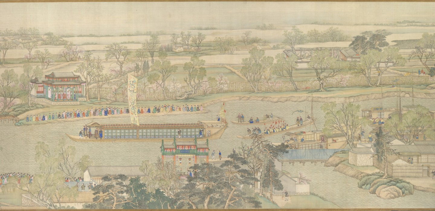 Xu Yang, The Qianlong Emperor's Southern Inspection Tour (《乾隆南巡图》), partial, National Museum of China. (Internet)