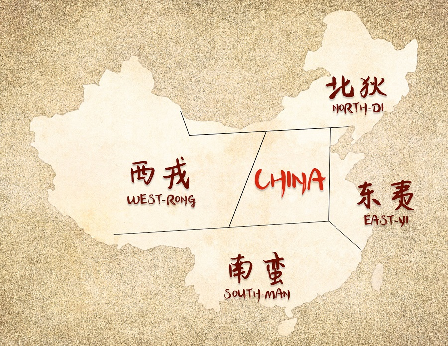Rough ancient China map. (Graphic: Jace Yip)