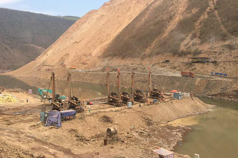 Jiasa River hydropower station construction site (Weibo)