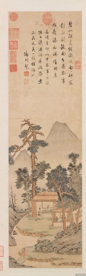 Wen Zhengming, Tasting Tea (品茶图), National Palace Museum. (Internet)