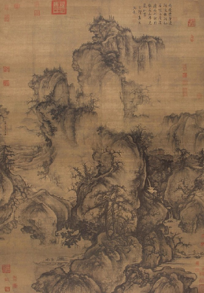 Guo Xi, Early Spring (《早春图》), National Palace Museum. (Internet)