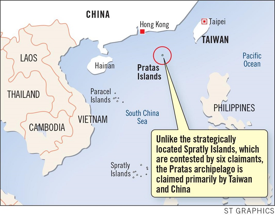 The Dongsha Islands (Pratas Islands) is a strategic location for the Chinese navy. (G. Chandradas/ST Graphics/SPH)