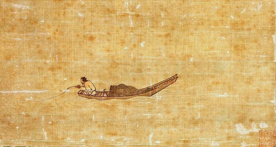 Ma Yuan, Angler on a Wintry Lake (《寒江独钓图》), Tokyo National Museum. (Internet)