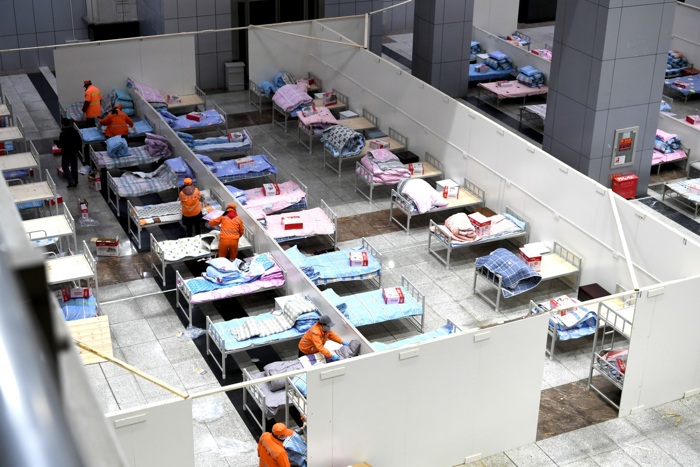 The Wuhan International Conference & Exhibition Center has been transformed into a makeshift hospital. (CNS)