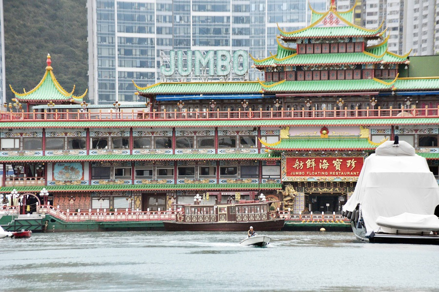This photo taken on 2 March 2020 shows the iconic Jumbo Floating Restaurant. (CNS)