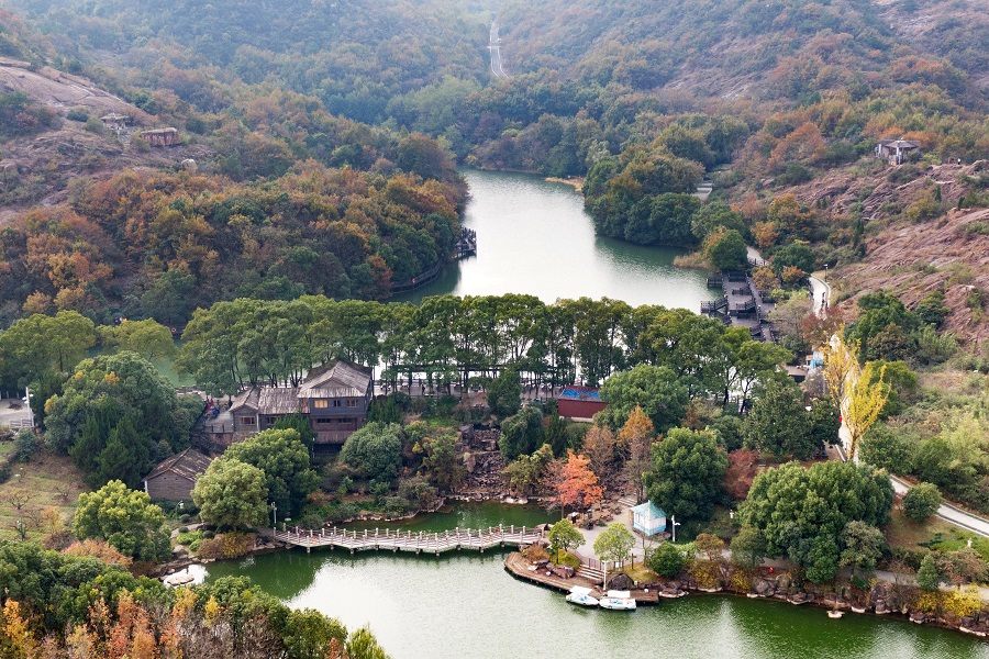 An aerial view of Baimajian Ecological Park, Suzhou, 28 November 2020. (CNS)