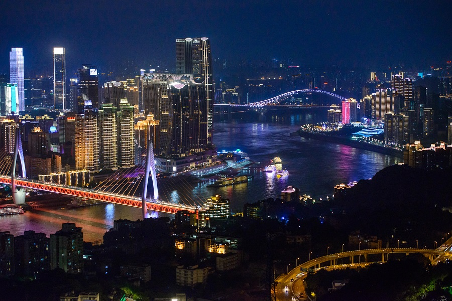 The night scene of Chongqing, China, 20 July 2021. (CNS)