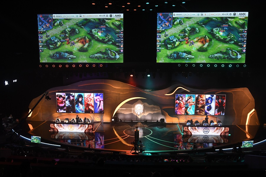 Honor of Kings World Champion Cup 2021 opens in Chongqing, China, on 28 July 2021. (CNS)