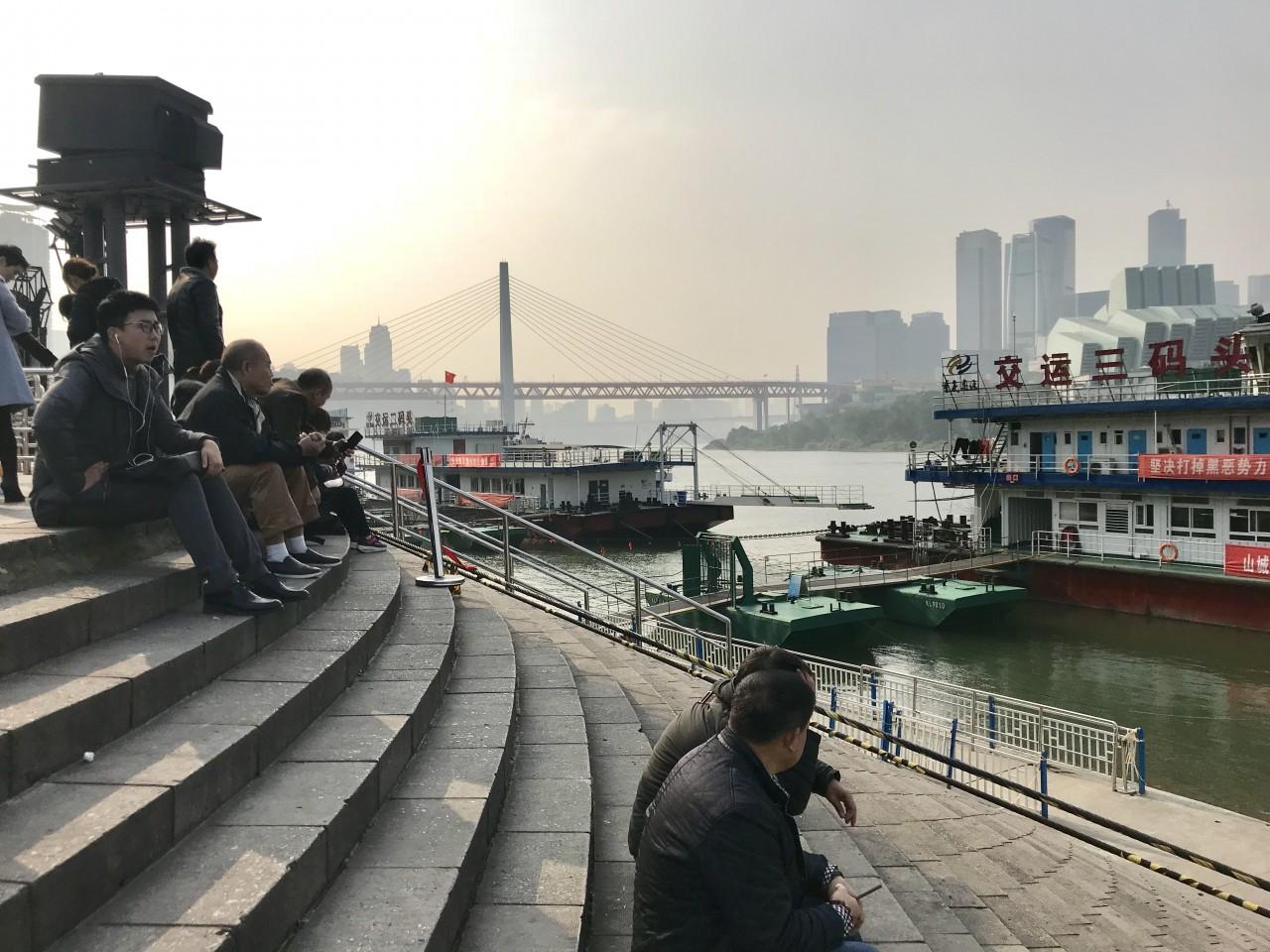 Chongqing's cultural landmark, Chaotianmen Dock. (SPH)