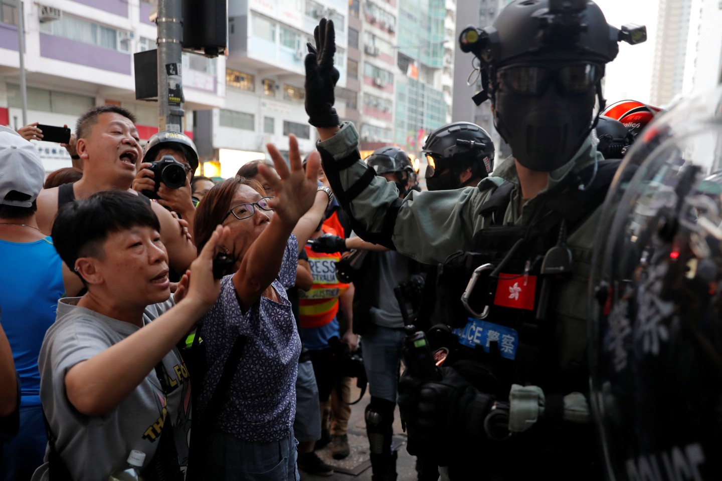 Officials have been indecisive in their bid to put the brakes on the protests, while the protestors are steeped in foolish acts that accelerate Hong Kong's destruction. (REUTERS/Susana Vera)