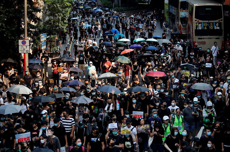 Hong Kong's protest march