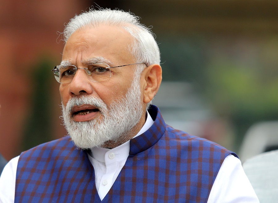 India's Prime Minister Narendra Modi. Photo taken on 18 Novermber 2019 on the first day of the winter session in New Delhi, India. (Altaf Hussain/File Photo/Reuters)