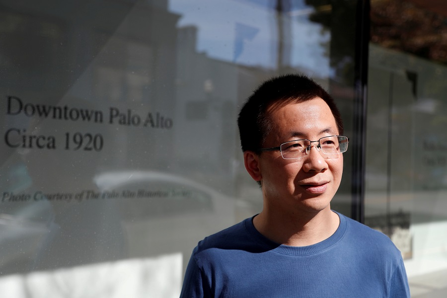 Zhang Yiming, founder of ByteDance, poses in Palo Alto, California, US, on 4 March 2020. (Shannon Stapleton/File Photo/Reuters)