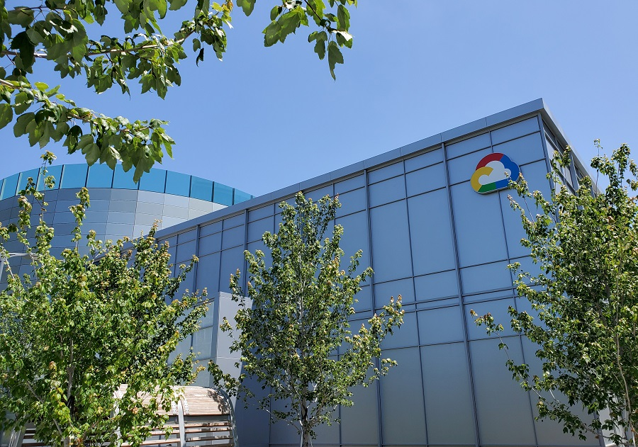 A Google Cloud logo outside of the Google Cloud computing unit's headquarters at the Moffett Place office complex in Sunnyvale, California, US, 19 June 2019. (Paresh Dave/File Photo/Reuters)
