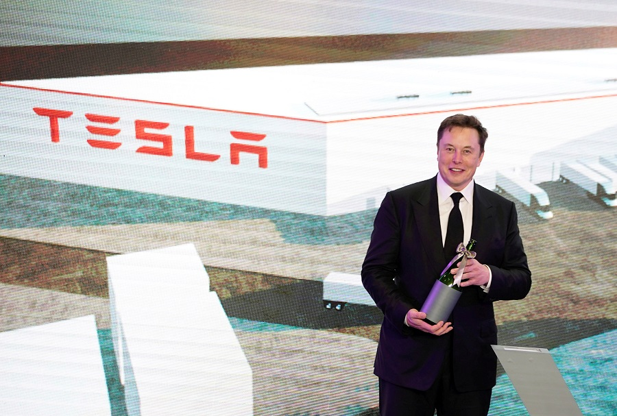 Tesla Inc CEO Elon Musk attends an opening ceremony for Tesla China-made Model Y program in Shanghai, China, 7 January 2020. (Aly Song/File Photo/Reuters)