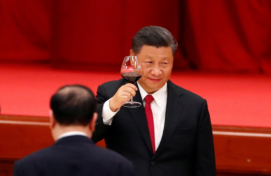 Chinese President Xi Jinping attends the National Day reception on the eve of the 71st anniversary of the founding of the People's Republic of China in Beijing, China, 30 September 2020. (Thomas Peter/File Photo/Reuters)