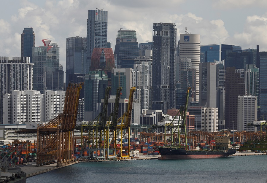 A ship docks at Keppel terminal in Singapore, 17 November 2020. (Edgar Su/File Photo/Reuters)