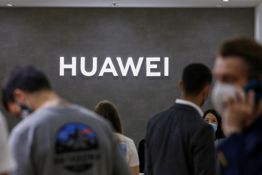 The Huawei logo is seen at the IFA consumer technology fair, in Berlin, Germany, 3 September 2020. (Michele Tantussi/File Photo/Reuters)