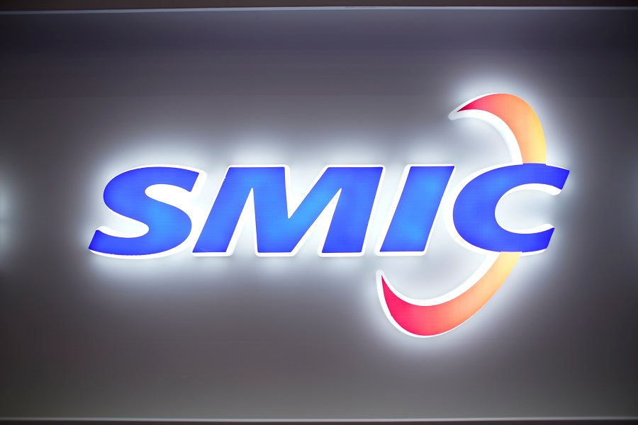 A logo of Semiconductor Manufacturing International Corporation (SMIC) is seen at China International Semiconductor Expo in Shanghai, China, 14 October 2020. (Aly Song/File Photo/Reuters)