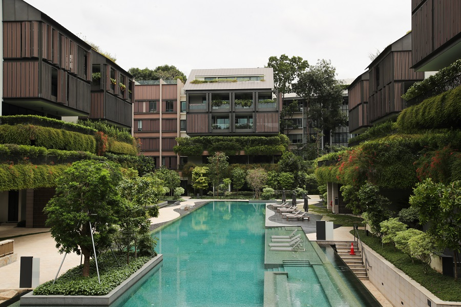 A view of the luxurious two-storey Nassim Hill penthouse, minutes away from the Orchard shopping belt in Singapore. (SPH)