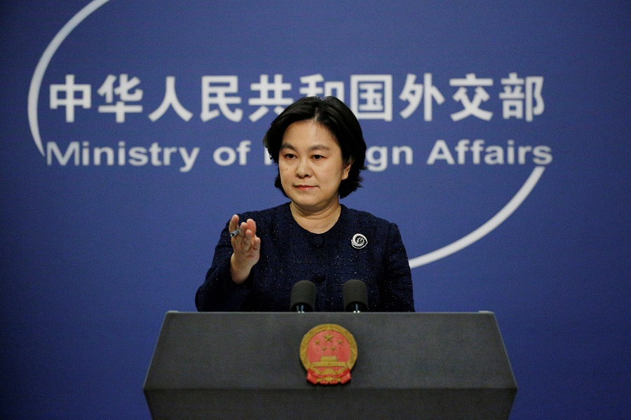 Chinese Foreign Ministry spokeswoman Hua Chunying attends a news conference in Beijing, China, 7 January 2021. (Florence Lo/Reuters)