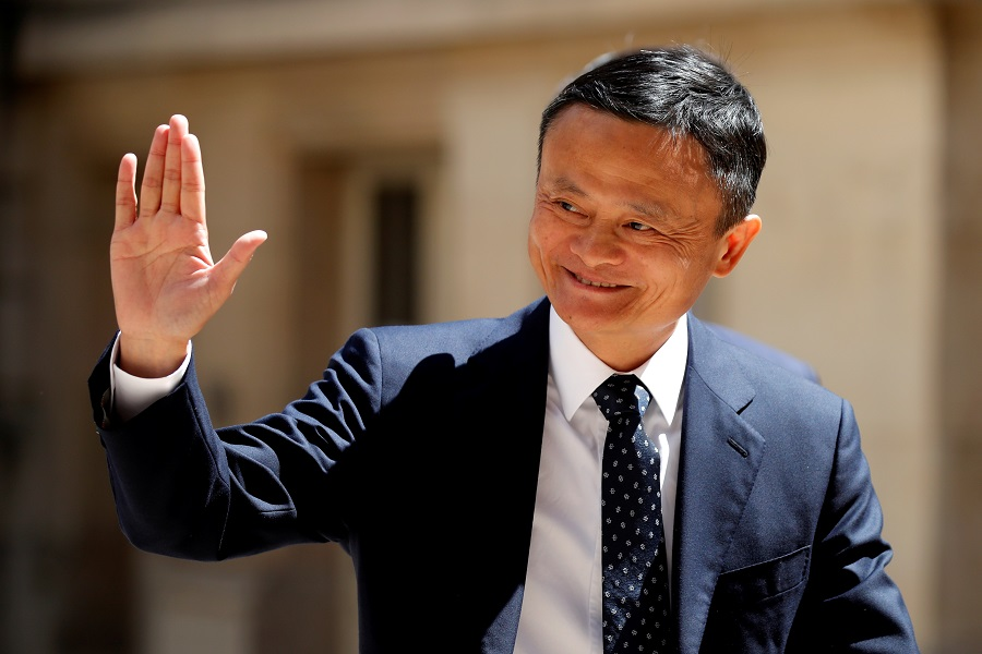 "Jack Ma, chairman of Alibaba Group, arrives at the ""Tech for Good"" Summit in Paris, France, 15 May 2019. (Charles Platiau/File Photo/Reuters)"