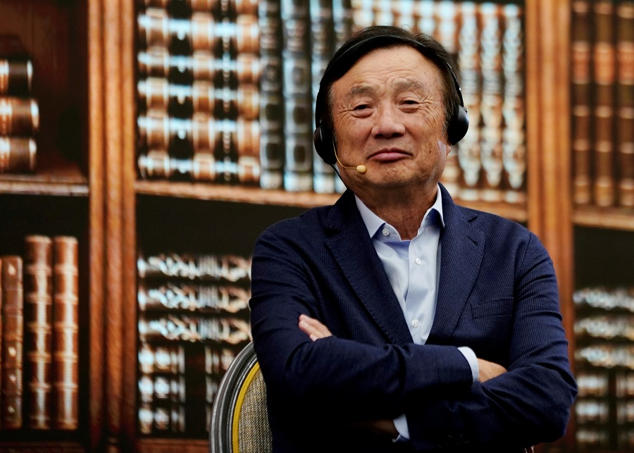 Huawei founder Ren Zhengfei attends a panel discussion at the company's headquarters in Shenzhen, Guangdong province, China, 17 June 2019. (Aly Song/File Photo/Reuters)