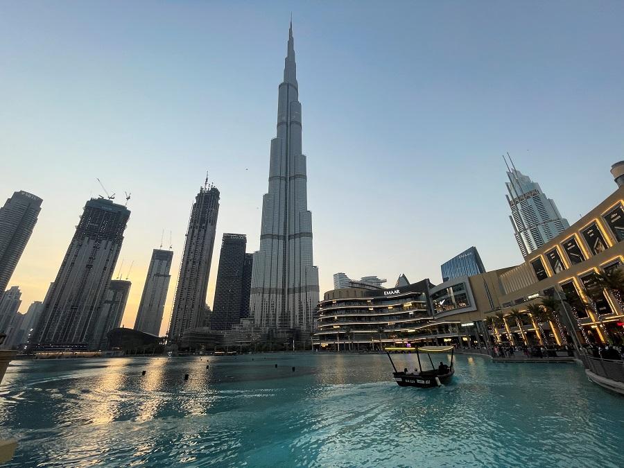 General view of the Burj Khalifa and the downtown skyline in Dubai, United Arab Emirates, 30 September 2021. (Mohammed Salem/Reuters)