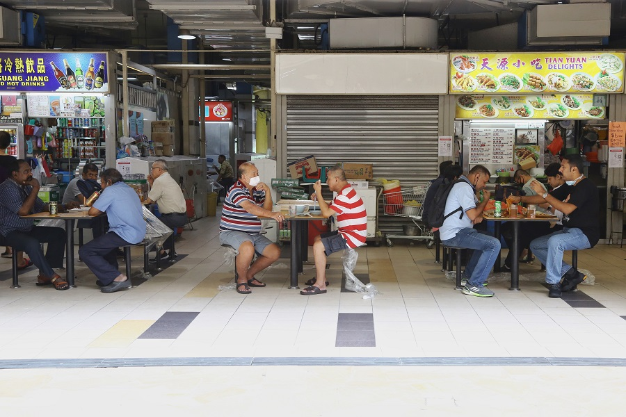 A generic shot of a hawker centre in Singapore. (SPH)