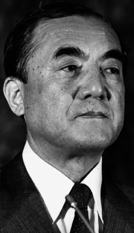 Former Japan Prime Minister Yasuhiro Nakasone. (SPH)