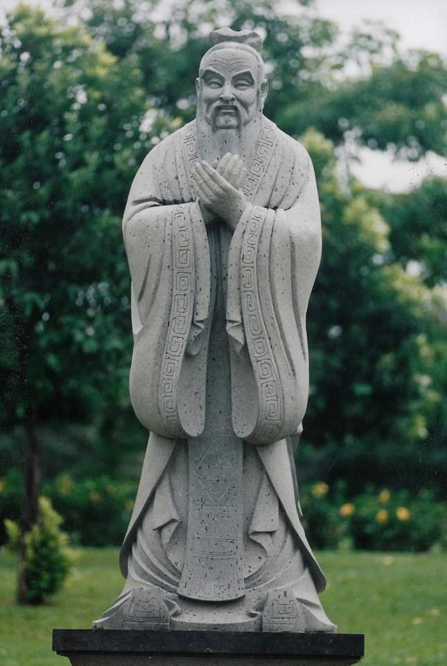 A statue of Confucius. (SPH)